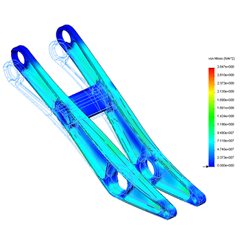 Finite element analysis for mountain bike suspension